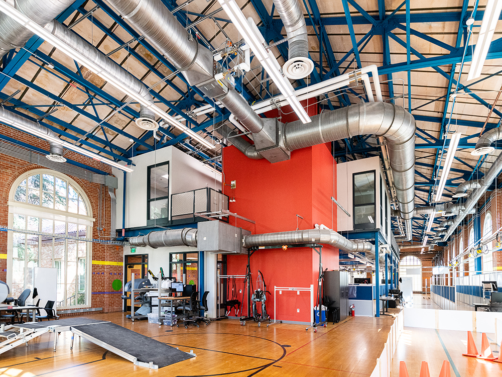 interior of anna hiss gym