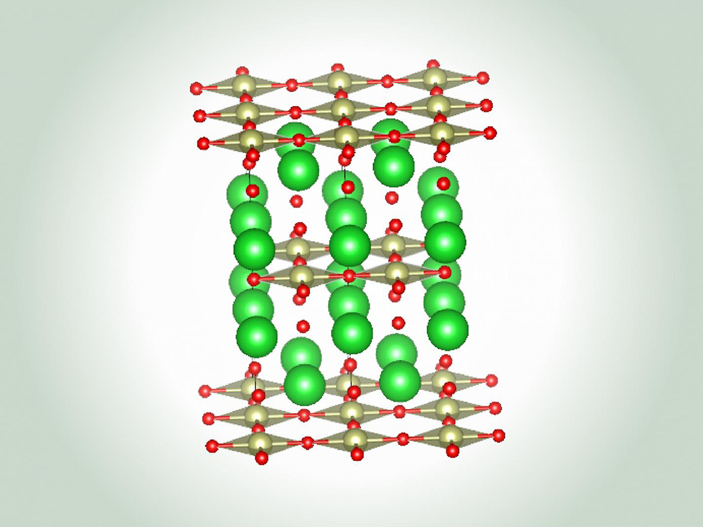 illustration of superconductors in green and red